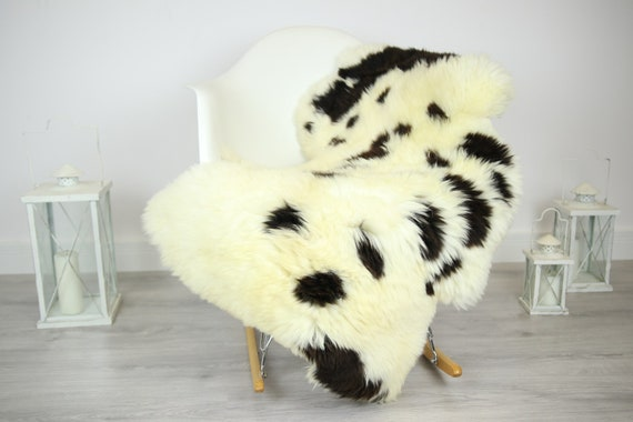 Sheepskin Rug | Real Sheepskin Rug | Shaggy Rug | Chair Cover | Sheepskin Throw | Brown Ivory Sheepskin | Home Decor | #JAC13