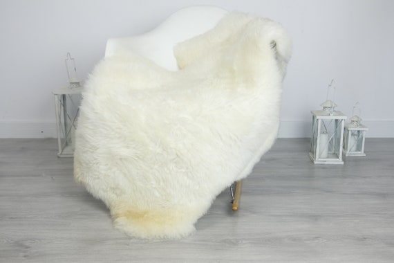 Real Sheepskin Rug Shaggy Rug Chair Cover Sheepskin Throw Sheep Skin Beige White Sheepskin Home Decor Rugs #7her54