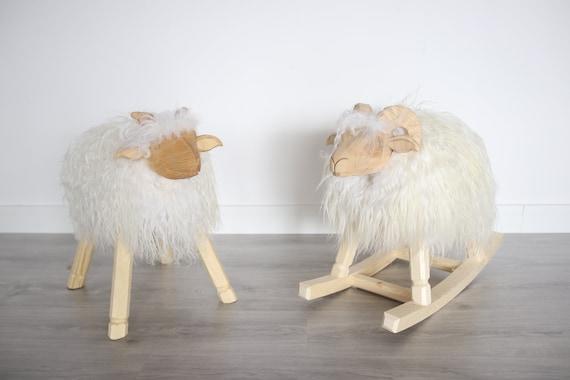 Rocking sheep lamb Rocking horse Rocking Toy | Baby rocker | Baby shower gift | Wooden rocker | Cute lamb