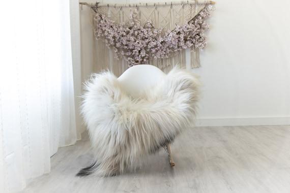 Real Icelandic Sheepskin Rug Scandinavian Home Decor Sofa Sheepskin throw Chair Cover Natural Sheep Skin Rugs Ivory Black #Iceland306