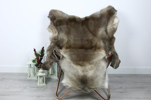 Reindeer Hide | Reindeer Rug | Reindeer Skin | Throw  - Scandinavian Style #GRE3 130x110 | Christmas Decor |