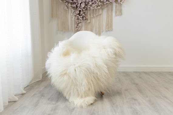Real Icelandic Sheepskin Rug Scandinavian Home Decor Sofa Sheepskin throw Chair Cover Natural Sheep Skin Rugs Ivory #Iceland327