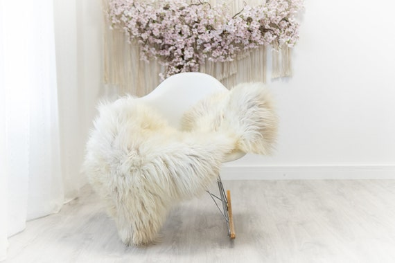 Real Sheepskin Merino Rug Shaggy Rug Chair Cover Sheepskin Throw Sheep Skin Sheepskin Home Decor Rugs Blanket Ivory Brown #herdwik176