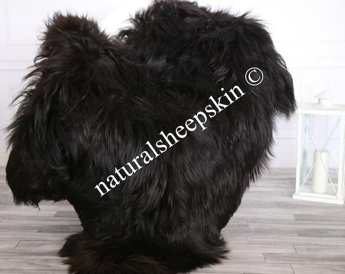 Icelandic Sheepskin | Real Sheepskin Rug | Sheepskin Rug Black Brown | Fur Rug | Homedecor #MAYISL15