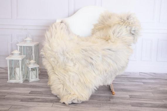 Organic Sheepskin Rug, Real Sheepskin Rug, Gute Sheepskin,Ivory Sheepskin Rug #GUTEFEB17