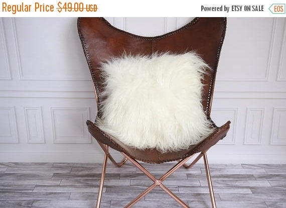 ON SALE Real Icelandic Sheepskin Pillow Sheepskin Cushion