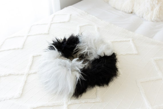 Sheepskin Cat Bed Or Dog Bed Cat Cave Unique Pet Bed Cat House Pet Furniture Hand Made With Genuine Real Sheepskin XXL Extra Large #Bed15