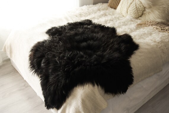 Real Icelandic Sheepskin Rug Scandinavian Decor Sofa Sheepskin throw Chair Cover Natural Sheep Skin Rugs Black Gray Fur Rug #Islbeau24