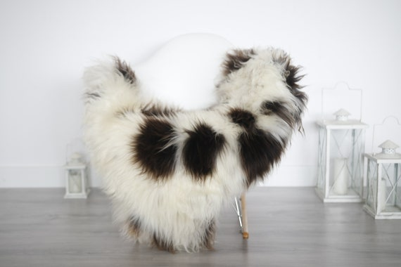 Real Sheepskin Rug Shaggy Rug Chair Cover Sheepskin Throw Sheep Skin White Brown Sheepskin Home Decor Rugs #6her7