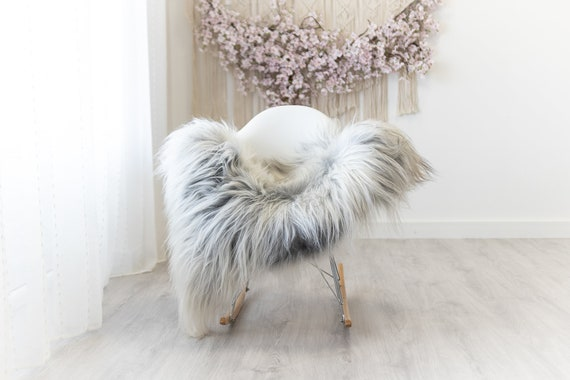 Real Icelandic Sheepskin Rug Scandinavian Home Decor Sofa Sheepskin throw Chair Cover Natural Sheep Skin Rugs White Gray #Iceland302
