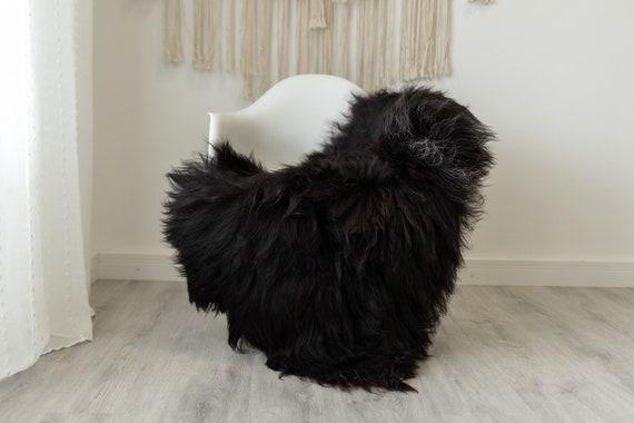 Real Icelandic Sheepskin Rug Scandinavian Home Decor Sofa Sheepskin throw Chair Cover Natural Sheep Skin Rugs Brown Gray #Iceland484