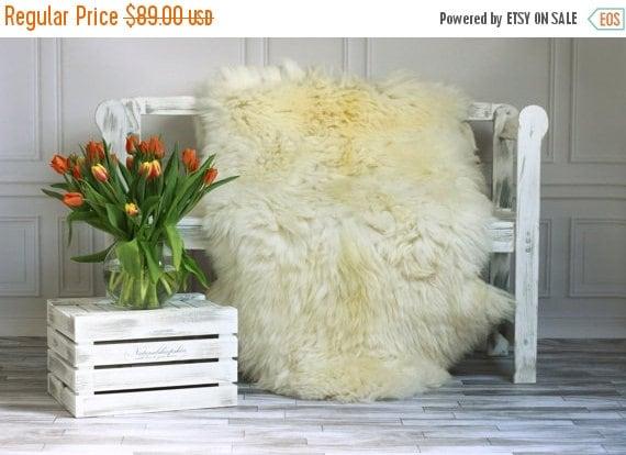 ON SALE Creamy White Giant XXXL Sheepskin Rug, Sheepskin Throw, Cosy <3