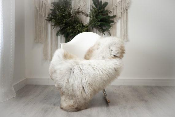 Real Sheepskin Rug Shaggy Rug Chair Cover Scandinavian Home Sheepskin Throw Sheep Skin White Brown Sheepskin Home Decor Rugs #herdwik377