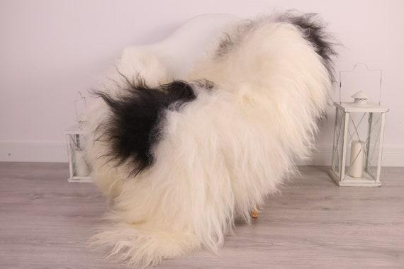 Real Icelandic Sheepskin Rug Scandinavian Decor Sofa Sheepskin throw Chair Cover Natural Sheep Skin Rugs Black White Blanket Fur Rug #Am7