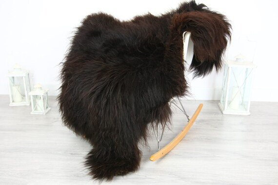 Icelandic Sheepskin | Real Sheepskin Rug | | Large Sheepskin Rug Chocolate | Fur Rug | Homedecor | Sheepskin Throw | Long fur #colisl8