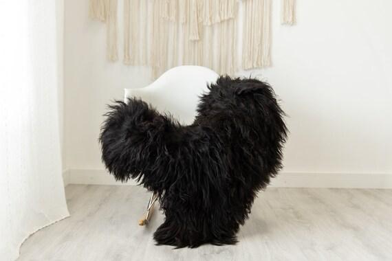 Real Icelandic Sheepskin Rug Scandinavian Home Decor Sofa Sheepskin throw Chair Cover Natural Sheep Skin Rugs Brown Black #Iceland490