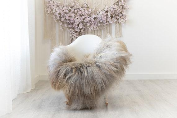 Real Icelandic Sheepskin Rug Scandinavian Home Decor Sofa Sheepskin throw Chair Cover Natural Sheep Skin Rugs Gray Brown #Iceland307