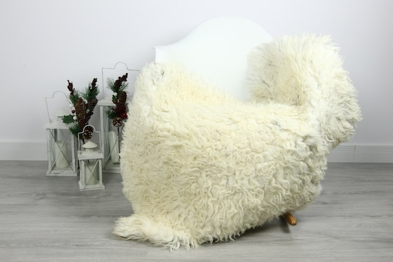 Organic Sheepskin Rug, Real Sheepskin Rug, Curly Sheepskin, Gray Beige Sheepskin Rug Christmas Home #CURLGUT25