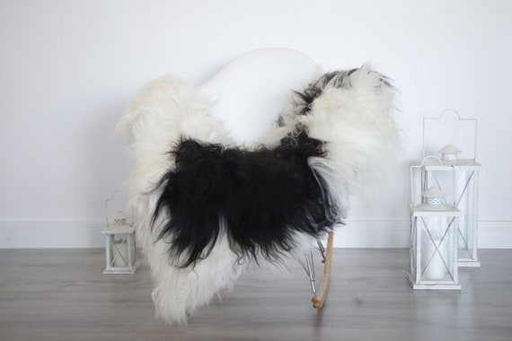 Real Icelandic Sheepskin Rug Scandinavian Decor Sofa Sheepskin throw Chair Cover Natural Sheep Skin Rugs Black Blanket Fur Rug #isleb4