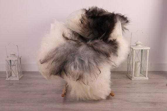 Real Icelandic Sheepskin Rug Scandinavian Decor Sofa Sheepskin throw Chair Cover Natural Sheep Skin Rugs Brown Gray Fur Rug #kefisl23