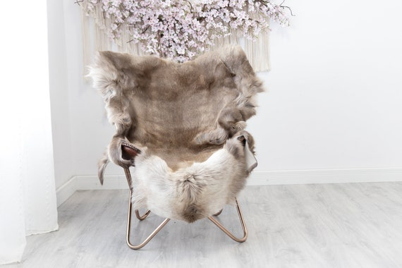 Reindeer Hide | Reindeer Rug | Reindeer Skin | Throw  - Scandinavian Style Christmas Decor Brown White Hide #Reindeer50