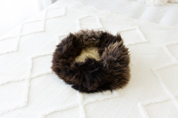 Sheepskin Cat Bed Or Dog Bed Cat Cave Unique Pet Bed Cat House Pet Furniture Hand Made With Genuine Real Sheepskin XXL Extra Large #Bed24