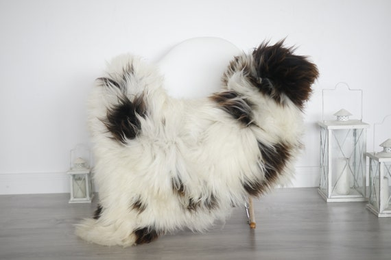 Real Sheepskin Rug Shaggy Rug Chair Cover Sheepskin Throw Sheep Skin White Brown Sheepskin Home Decor Rugs #6her17