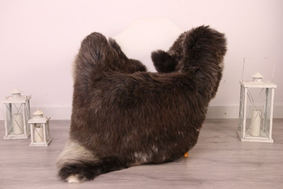Real Sheepskin Rug Shaggy Rug Chair Cover Sheepskin Throw Sheep Skin Brown Gray Sheepskin Home Decor Rugs #8her19