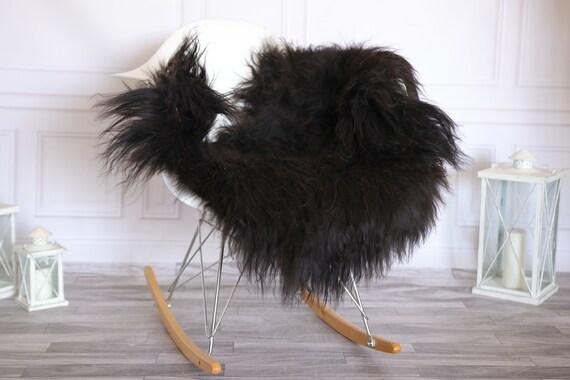 Icelandic Sheepskin | Real Sheepskin Rug | Sheepskin Rug Brown Black | Fur Rug | Homedecor #KOWISL31