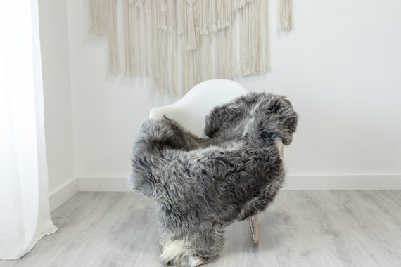 Real Sheepskin Rug Shaggy Rug Chair Cover Sheepskin Throw Sheep Skin White Gray Sheepskin Home Decor Rugs #Gut53
