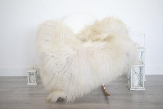 Real Icelandic Sheepskin Rug Scandinavian Decor Sofa Sheepskin throw Chair Cover Natural Sheep Skin Rugs Beige Blanket Fur Rug #isleb37