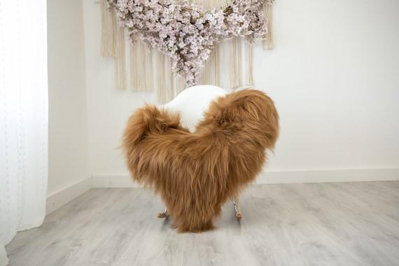 Carmel Toffee Real Icelandic Sheepskin Rug Scandinavian Decor Sofa Sheepskin throw Chair Cover Natural Sheep Skin Rugs