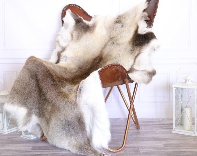 Reindeer Hide | Reindeer Rug | Reindeer Skin | Throw XXXL GIANT  - Scandinavian Style #22RE3