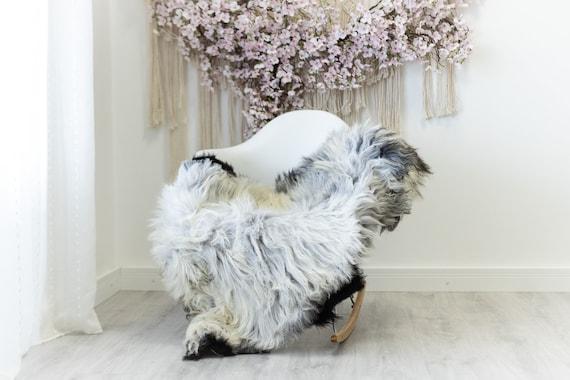 Real Sheepskin Rug Shaggy Rug Chair Cover Scandinavian Home Sheepskin Throw Sheep Skin Ivory Gray Sheepskin Home Decor Rugs #herdwik120