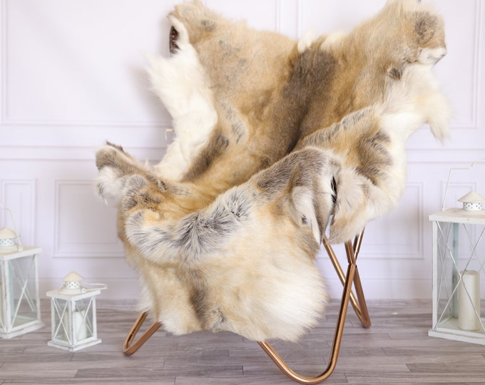 Reindeer Hide | Reindeer Rug | Reindeer Skin | Throw Large  - Scandinavian Style #22RE9