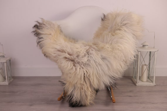 Real Icelandic Sheepskin Rug Scandinavian Decor Sofa Sheepskin throw Chair Cover Natural Sheep Skin Rugs Black Ivory Blanket Fur Rug #Am32