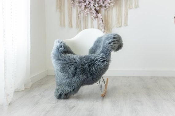 Real Sheepskin Rug Shaggy Rug Chair Cover Scandinavian Home Sheepskin Throw Sheep Skin Gray Sheepskin Home Decor Rugs #herdwik238