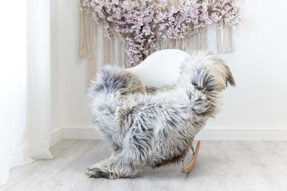 Real Sheepskin Rug Shaggy Rug Chair Cover Scandinavian Home Sheepskin Throw Sheep Skin White Gray Sheepskin Home Decor Rugs #herdwik124