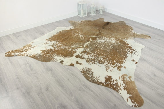 Premium Quality Giant XXXL Cowhide | Real Cowhide Rug | Sand White Cowhide | #COW6