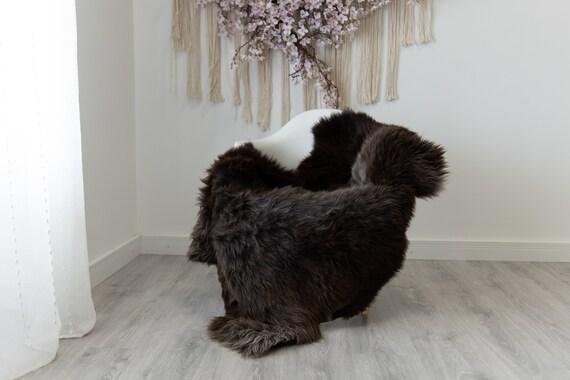 Real Sheepskin Rug Shaggy Rug Chair Cover Scandinavian Home Sheepskin Throw Sheep Skin Gray Brown Sheepskin Home Decor Rugs #herdwik208