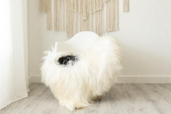 Real Icelandic Sheepskin Rug Scandinavian Home Decor Sofa Sheepskin throw Chair Cover Natural Sheep Skin Rugs White Ivory Black #Iceland505
