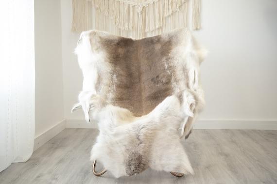 EXTRA LARGE Reindeer Hide | Reindeer Rug | Reindeer Skin | Throw XXL  - Scandinavian Style Christmas Decor Brown White Hide #Reindeer65
