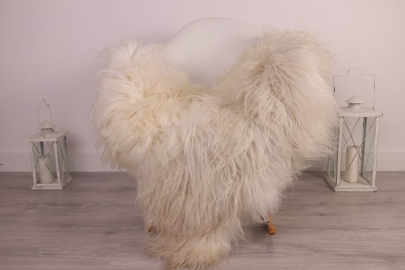 Real Icelandic Sheepskin Rug Scandinavian Decor Sofa Sheepskin throw Chair Cover Natural Sheep Skin Rugs White Ivory Blanket Fur Rug #Am24