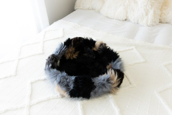 Sheepskin Cat Bed Or Dog Bed Cat Cave Unique Pet Bed Cat House Pet Furniture Hand Made With Genuine Real Sheepskin XXL Extra Large #Bed13