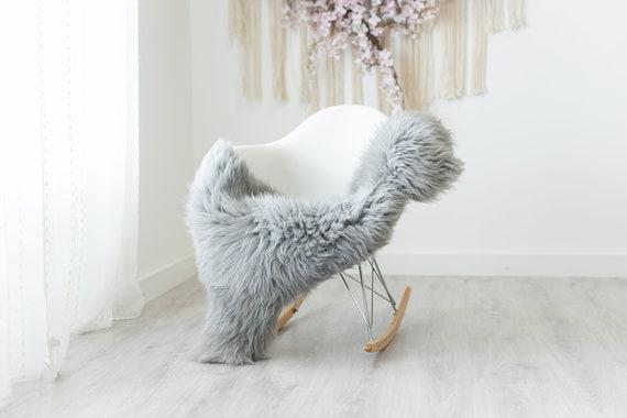 Real Sheepskin Rug Shaggy Rug Chair Cover Scandinavian Home Sheepskin Throw Sheep Skin Gray Sheepskin Home Decor Rugs #herdwik240