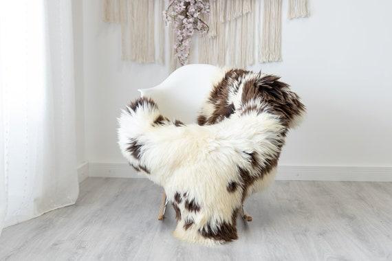 Real Sheepskin Rug Shaggy Rug Chair Cover Scandinavian Home Sheepskin Throw Sheep Skin White Brown Sheepskin Home Decor Rugs #herdwik193