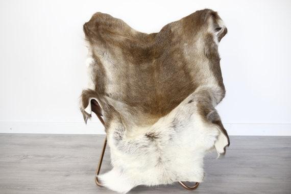 Reindeer Hide | Reindeer Rug | Reindeer Skin | Throw XXL EXTRA LARGE - Scandinavian Style Christmas Decor Brown Hide #Ire4