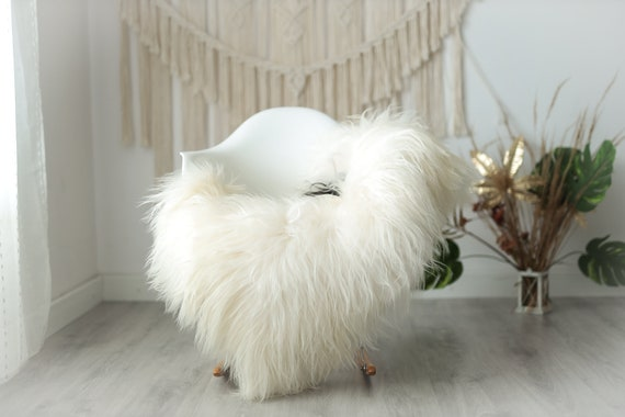 Real Icelandic Sheepskin Rug Scandinavian Decor Sofa Sheepskin throw Chair Cover Natural Sheep Skin Rugs Ivory Brown Fur Rug #Urisl39