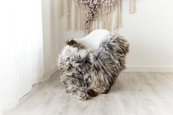 Real Sheepskin Merino Rug Shaggy Rug Chair Cover Sheepskin Throw Sheep Skin Sheepskin Home Decor Rugs Blanket White Brown #herdwik105