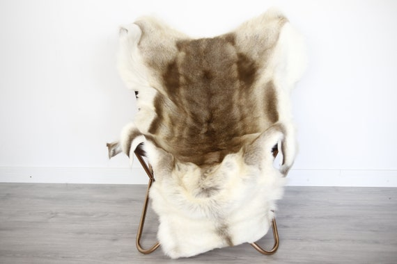 Reindeer Hide | Reindeer Rug | Reindeer Skin | Throw XXL EXTRA LARGE - Scandinavian Style Christmas Decor Brown Hide #Ire10